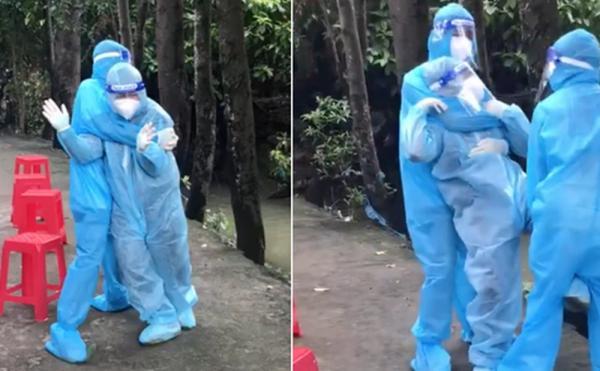 """Bi hài: Lấy mẫu ca nào dương tính ca đó, nhân viên y tế bị cả đồng nghiệp lẫn netizen đòi """"quẳng xuống mương"""""""